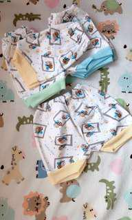 6pc Celana pendek bayi (sz 0-3m)