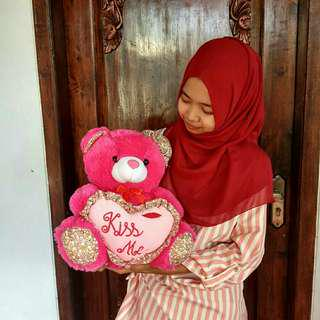 Boneka Teddy Bear Kiss Me 35cm
