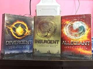 Divergent, Insurgent & Allegiant by Veronica Roth