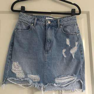 Miss shop denim skirt