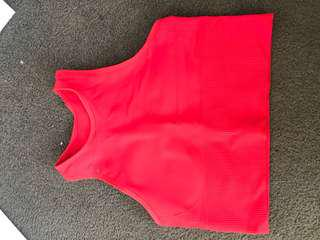 Red Sports Top