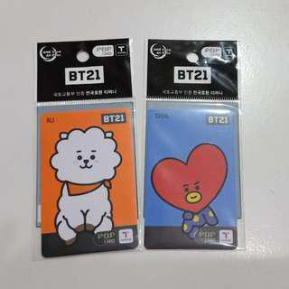 WTS - BT21 TMONEY CARD BTS