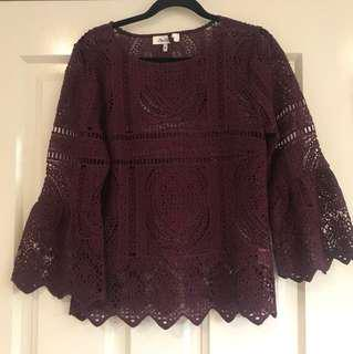 Miss shop lace top size 10