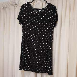 Loveheart skater dress