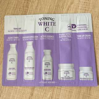Etude house toning white C travel kit