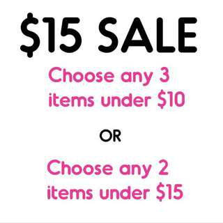 $15 SALE!! Please Check it out!