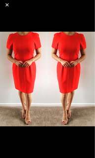 Saba red tailored dress