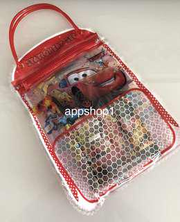 Lightning McQueen theme goodies favors, goodie bag packages
