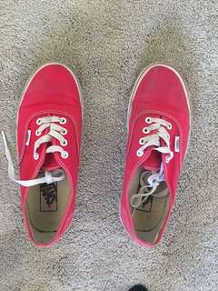 Red vans Size 7 womens