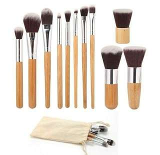 11 pcs make up brush set WITH POUCH