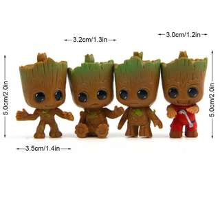 Guardians of the galaxy Groot toy figure keychain