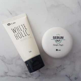 #FreePostage WLab White Holic Quick Whitening Cream | W.Lab Sebum Out Finish Pact