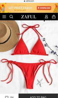 Zaful red bikini
