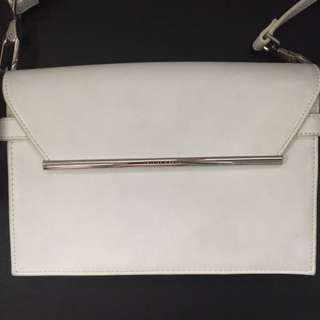 Charles and Keith White Leather Bag