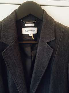 Calvin Klein Stretch dark grey blazer size 10