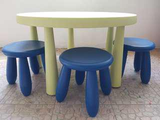 IKEA Mammut children's table and stools