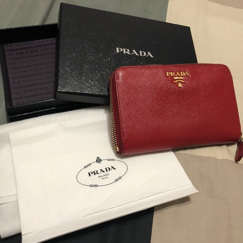 08b5aed71950 100% authentic Prada saffiano wallet, Luxury, Bags & Wallets ...