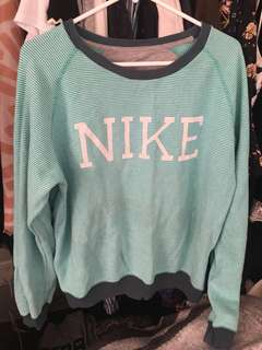 Nike green sweater