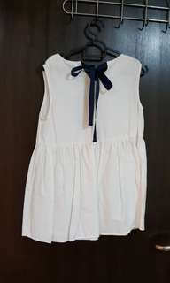 Ribbon white top - love and bevery