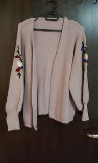 Knitted embroiry cardigan