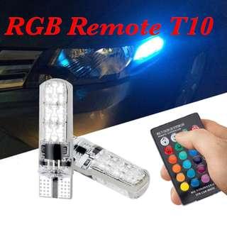 RGB T10 6SMD remote