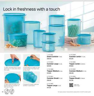 Tupperware canister series containers air tight