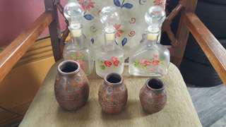 Vintage decanthers, vases