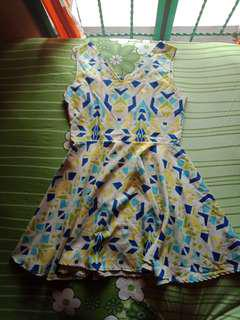 Colourfull mini dress