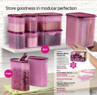 Modular set with gift box set 7 containers of various size, free 2 freezermate