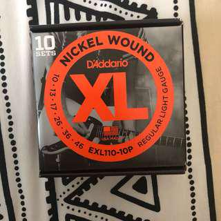 *BRAND NEW* D'Addario Nickelwound EXL110-10P - 10-46 Strings (10 Pack)