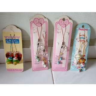 Mobile accessories - Hello Kitty, penguins etc