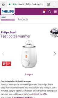 Brand new Philips Avent milk warmer