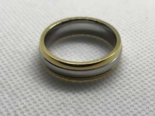 Gold silver gold Ring - siZe 8.5