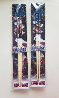正版鋼鐵人 筷子 marvel一起賣100 3樣250