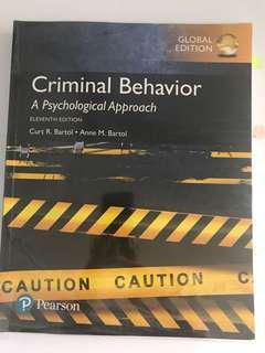 Criminal Behaviour: A Psychological Approach