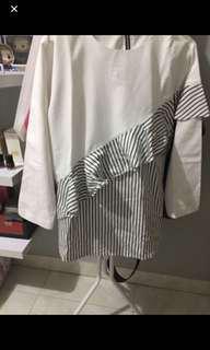 White stripe blouse