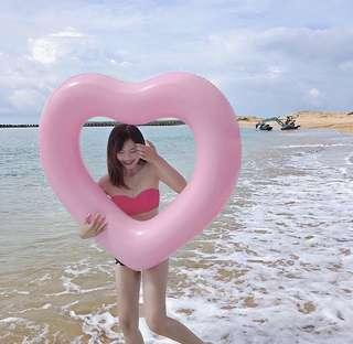 (實拍)愛心泳圈