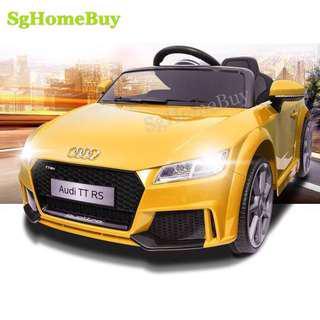 In-stock  - yellow Audi TT electric car