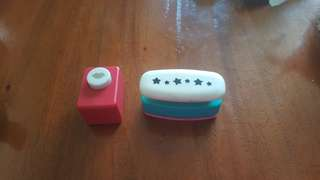 Paper puncher lip and stars punch design