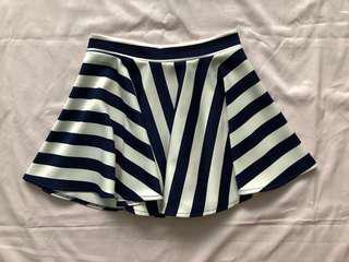 Beach Skater Skirt (Stripes)