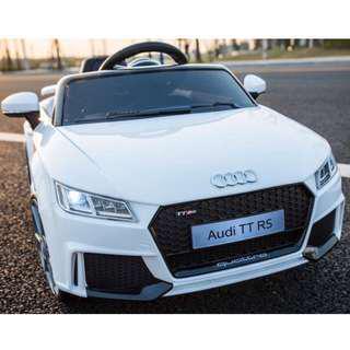 In-stock  - White Audi TT electric car