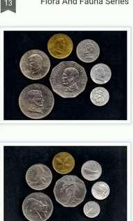 FLORA AND FAUNA SERIES COINS SET