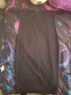 Off Shoulder Curved Neckline Midi Dress