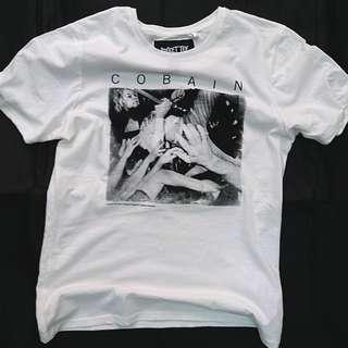 Kurt Cobain ( Nirvana經典主音及結他手)T恤  Kurt Cobain tee