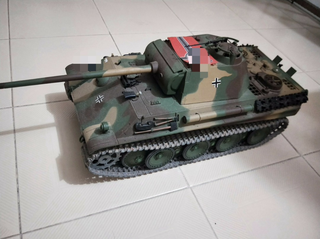 1/16 remote controlled Panther G tank (Metal Track and Metal Gear)
