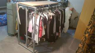 Industrial rack gondola shop clothes merchandise metal strong steel