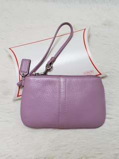 Coach Leather Wristlet ❤BIG SALE❤ In excellent condition  With box Swipe for detailed pics