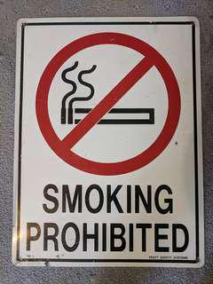 Somking Prohibited Sign