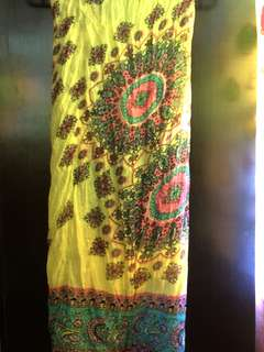 Mandala Crumple Shawl