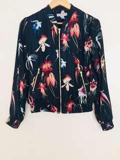 Original H&M Nice Floral Bomber Jacket